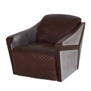 Vintage Aviator Alton Brown Leather Aluminum Sheath Club Chair