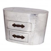 1 Large Drawer Leather and Aluminium Trunk
