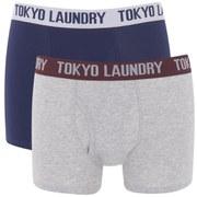 Lot de 2 Boxers Tokyo Laundry Kobe -Bleu/Gris Chiné