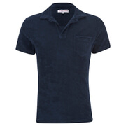Orlebar Brown Men's Terry Towelling Polo Shirt - Navy