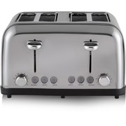 Tower T20003 4 Slice Toaster - Silver