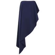 Lavish Alice Women's Bandeau Asymmetric Drape Crop Top - Navy