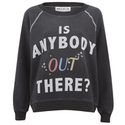 Wildfox Women's Kims Sweater Is Anybody Out There - Dirty Black