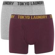 Lot de 2 Boxers Tokyo Laundry -Rouge/Gris Chiné