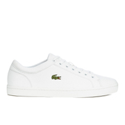 Lacoste Men's Straightset SPT 116 1 Leather Trainers - White