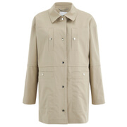 KENZO Women's Stretch Cotton Twill Coat - Sand