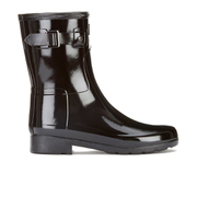 Hunter Women's Original Refined Short Gloss Wellies - Black