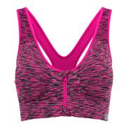 Myprotein Women's Medium Support Zip Front Sports Bra - Pink Marl