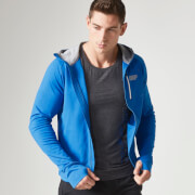 MyProtein Men's Premium Training Zip Hoodie – Grey & Blue