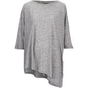 VILA Women's Tabat Oversize Top - Medium Grey Melange