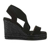 Castaner Women's Bernard Strappy Espadrille Wedged Sandals - Black