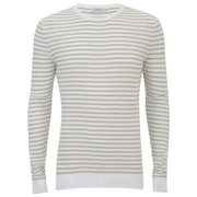 J.Lindeberg Men's Crew Neck Knitted Jumper - White