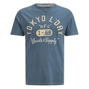 Tokyo Laundry Men's Woodcroft T-Shirt - Vintage Blue Marl