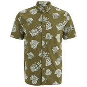 Penfield Men's Belden Printed Short Sleeve Shirt - Olive