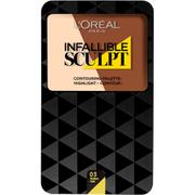 L'Oréal Paris Infallible Sculpting Palette - Medium Dark (10g)
