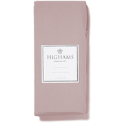 Highams 100% Egyptian Cotton Plain Dyed Fitted Sheet - Vintage Pink [China Sizing Only]