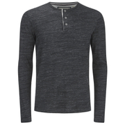 Brave Soul Men's Jeffrey Button Long Sleeved Top - Charcoal Marl
