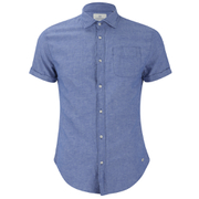 Scotch & Soda Men's Short Sleeved Shirt - Cobalt