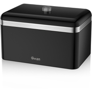 Swan SWKA1010BN Retro Bread Bin - Black