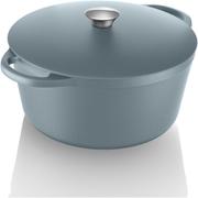 Tower IDT90001 Cast Iron Round Casserole Dish - Blue - 26cm