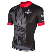 Bianchi Men's Cinca Short Sleeve Jersey - Black/Red