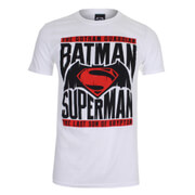 DC Comics Batman v Superman Gotham Guardian Herren T-Shirt - Weiss