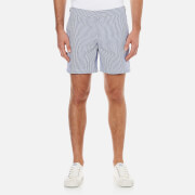 Orlebar Brown Men's Bulldog Seersucker Swim Shorts - Navy/White