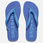 Orlebar Brown Men's Watson Flip Flops - Dark Butterfly/Riviera
