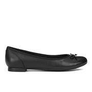 Clarks Women's Couture Bloom Leather Ballet Flats - Black