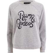 "MINKPINK Women's ""Rum & Rodeo"" Soft Wash Raglan Sweat - Grey"