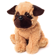 Cozy Heatable Plush Pug