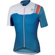 Sportful BodyFit Pro Race Short Sleeve Jersey - Blue/White/Red