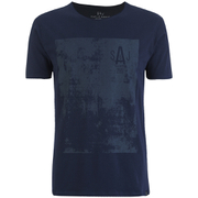 Smith & Jones Men's Diazoma Print T-Shirt - Dark Sapphire