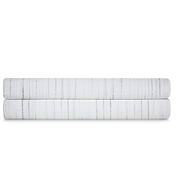Calvin Klein Claytonia Dash Fitted Sheet - White