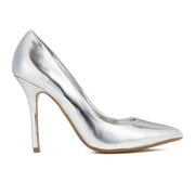 Dune Women's Burst Metallic Court Shoes - Silver