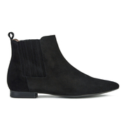 H Shoes by Hudson Women's Reine Pointed Suede Ankle Boots - Black