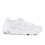Puma Men's R698 Core Leather Trainers - White/Steel Grey