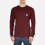 Carhartt Men's Long Sleeve Pocket T-Shirt - Burgundy