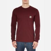 Carhartt Men's Long Sleeve Pocket T-Shirt - Burgundy