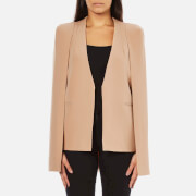 Lavish Alice Women's Collarless Cape Blazer - Camel