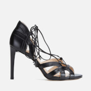 MICHAEL MICHAEL KORS Women's Mirabel Leather High Heeled Sandals - Black
