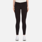 J Brand Women's Mid Rise Super Skinny Jeans - Seriously Black