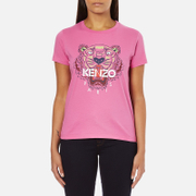 KENZO Women's Tiger Embroidered T-Shirt - Begonia