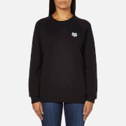 KENZO Women's Small Tiger Logo Sweatshirt - Black