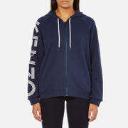 KENZO Women's Logo Sleeve Hooded Sweatshirt - Ink