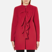 Boutique Moschino Women's Frill Jacket - Red
