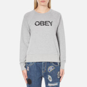 OBEY Clothing Women's Static Age Sweatshirt - Heather Grey