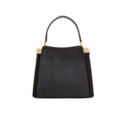Lulu Guinness Women's Collette Small Leather and Suede Grab Bag  - Black