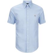 Polo Ralph Lauren Men's Short Sleeve Oxford Shirt - Light Blue