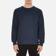 GANT Men's Embossed GANT Crew Neck Sweatshirt - Marine